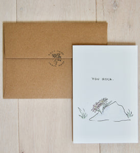 You Rock - birthday, anniversary, father's day, mother's day, just because card