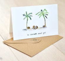 Load image into Gallery viewer, I'm Coconuts For You - Tropical Valentine's Day card