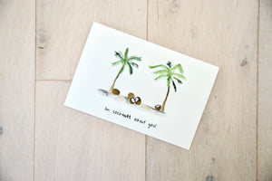 I'm Coconuts For You - Tropical Valentine's Day card