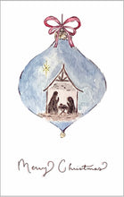 Load image into Gallery viewer, Nativity Scene Ornament - Watercolor Christmas Card