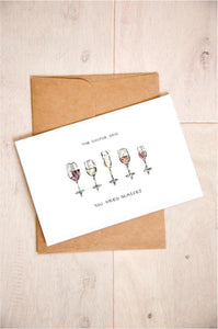 The Doctor Said You Need Glasses - Wine Birthday Card