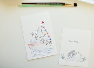 You Float My Boat - birthday, anniversary, engagement, bachelorette, baby shower card