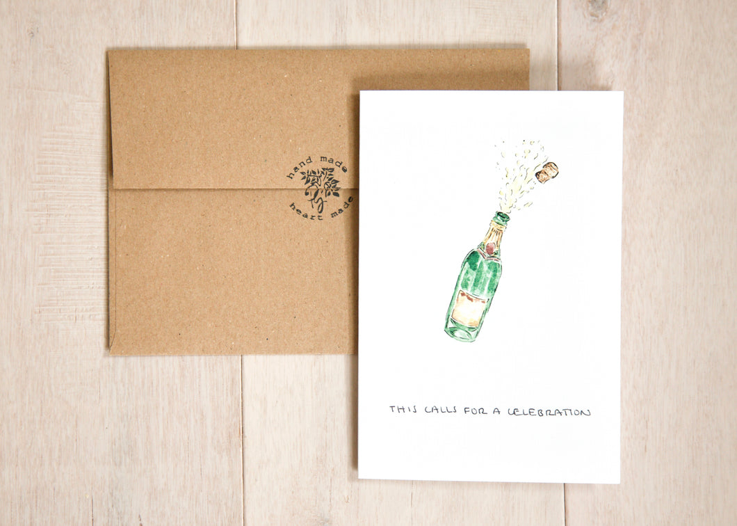 This Calls For a Celebration - wedding, anniversary, birthday, engagement, new job card
