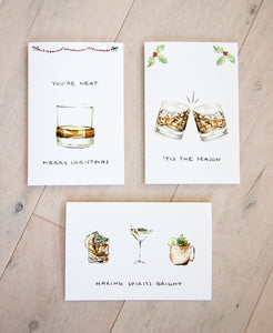 You're Neat, Merry Christmas - Whiskey / Rum / Bourbon Christmas Card
