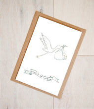 Load image into Gallery viewer, Stork - Bundle of Love - Neutral Nursery Baby Shower Card