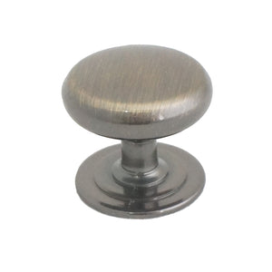 021 Plain Round Antique Brass Knob - Magnificent Marketing (DIY Builders Hardware)