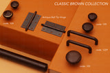 105 Plain Brown Ceramic Knob