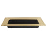 0965 Rectangle Satin Brass Flush Pull - Magnificent Marketing (DIY Builders Hardware)