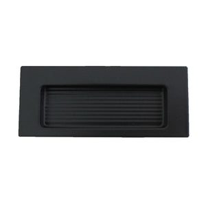 0965 Rectangle Black Flush Handle
