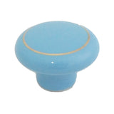 104 Blue Ceramic Knob with Golden Ring - Magnificent Marketing (DIY Builders Hardware)