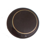 104 Brown Ceramic Knob with Golden Ring - Magnificent Marketing (DIY Builders Hardware)