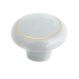 104 Gray Ceramic Knob with Golden Ring - Magnificent Marketing (DIY Builders Hardware)