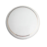 104 White Ceramic Knob with Golden Ring - Magnificent Marketing (DIY Builders Hardware)