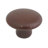 105 Plain Brown Ceramic Knob - Magnificent Marketing (DIY Builders Hardware)
