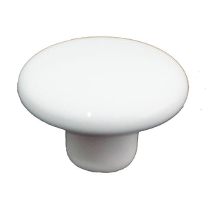 105 Plain White Ceramic Knob - Magnificent Marketing (DIY Builders Hardware)