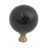 106 Black Spherical Ceramic Knob with Brass Base - Magnificent Marketing (DIY Builders Hardware)