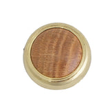 1109 Wooden Knob Wrapped in Brass - Magnificent Marketing (DIY Builders Hardware)