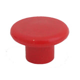 1230 Plain Red Plastic Knob - Magnificent Marketing (DIY Builders Hardware)