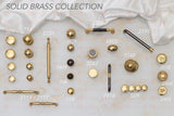2042 Plain Solid Brass Knob