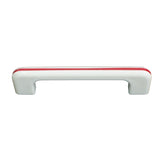 164 White with Red Stripes Plastic Pull - Magnificent Marketing (DIY Builders Hardware)