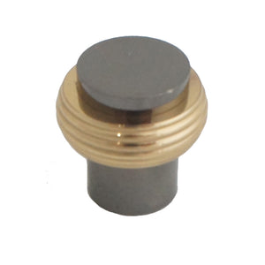 2042 Nickel Black Solid Brass Knob
