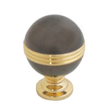 2628 Two Toned Nickel Black Solid Brass Knob