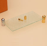 Glass Stand Off Sign Board Holder (Solid Brass)