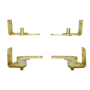 Polished Brass Gravity Hinge (Two Door)