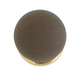303 Amber Round Knob with Brass Base
