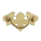 3445 Solid Brass Chest Pull