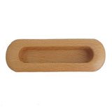 3502 Rounded Light Oak Wooden Flush Pull - Magnificent Marketing (DIY Builders Hardware)