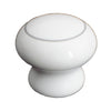 3637 White Ceramic Knob with Gray Ring - Magnificent Marketing (DIY Builders Hardware)