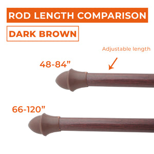 Dark Brown Cafe Rod Set
