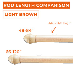 Light Brown Cafe Rod Set