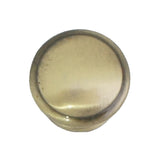 509 Plain Round Antique Brass Knob - Magnificent Marketing (DIY Builders Hardware)