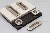 1411 Square Stainless Steel Flush Pull