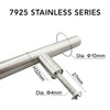 7925 Stainless Steel T Bar Handle Hollow