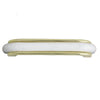 8643 White Wrapped in Brass Plastic Pull Handle - Magnificent Marketing (DIY Builders Hardware)