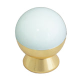 8880 White Brass Knob - Magnificent Marketing (DIY Builders Hardware)