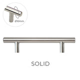 8925 Stainless Solid Pull Handle