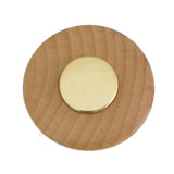 9190 Wooden Knob with Brass Base