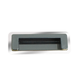 9207 Rectangle Chrome Plated 125mm Flush Pull