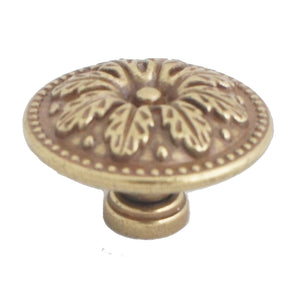 993 Classic Antique Brass Knob - Magnificent Marketing (DIY Builders Hardware)