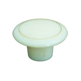 A63 Beige Plastic Knob with Gold Ring - Magnificent Marketing (DIY Builders Hardware)