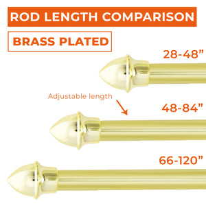 "Brass Plated 3/4"" Cafe Rod Set"