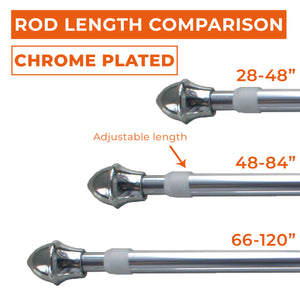 "Chrome Plated 1/2"" Cafe Rod Set"