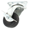 Plate Type With Brake Black Rubber Caster