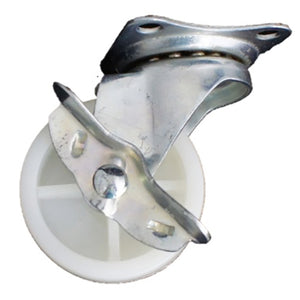 Plate Type With Brake White Nylon Caster