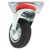 Plate Type With Hood Black Rubber Caster
