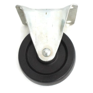 Fixed Rigid Type Black Rubber Caster